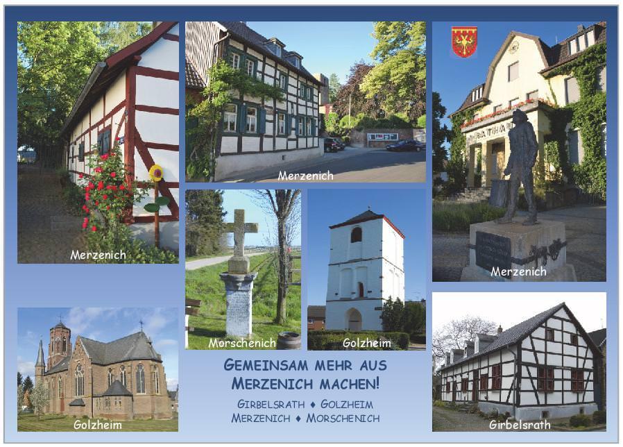 2. Auflage unserer Merzenich-Postkarte mit neuen Motiven ab sofort erhältlich!