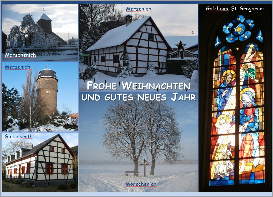 3. Auflage der Merzenich-Postkarte zu Weihnachten 2015